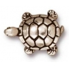 Bead Turtle 15mm Antique Silver